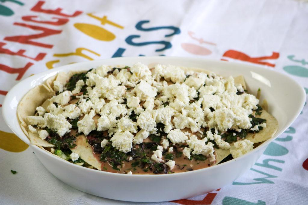 Spread Turkey Over Tortillas