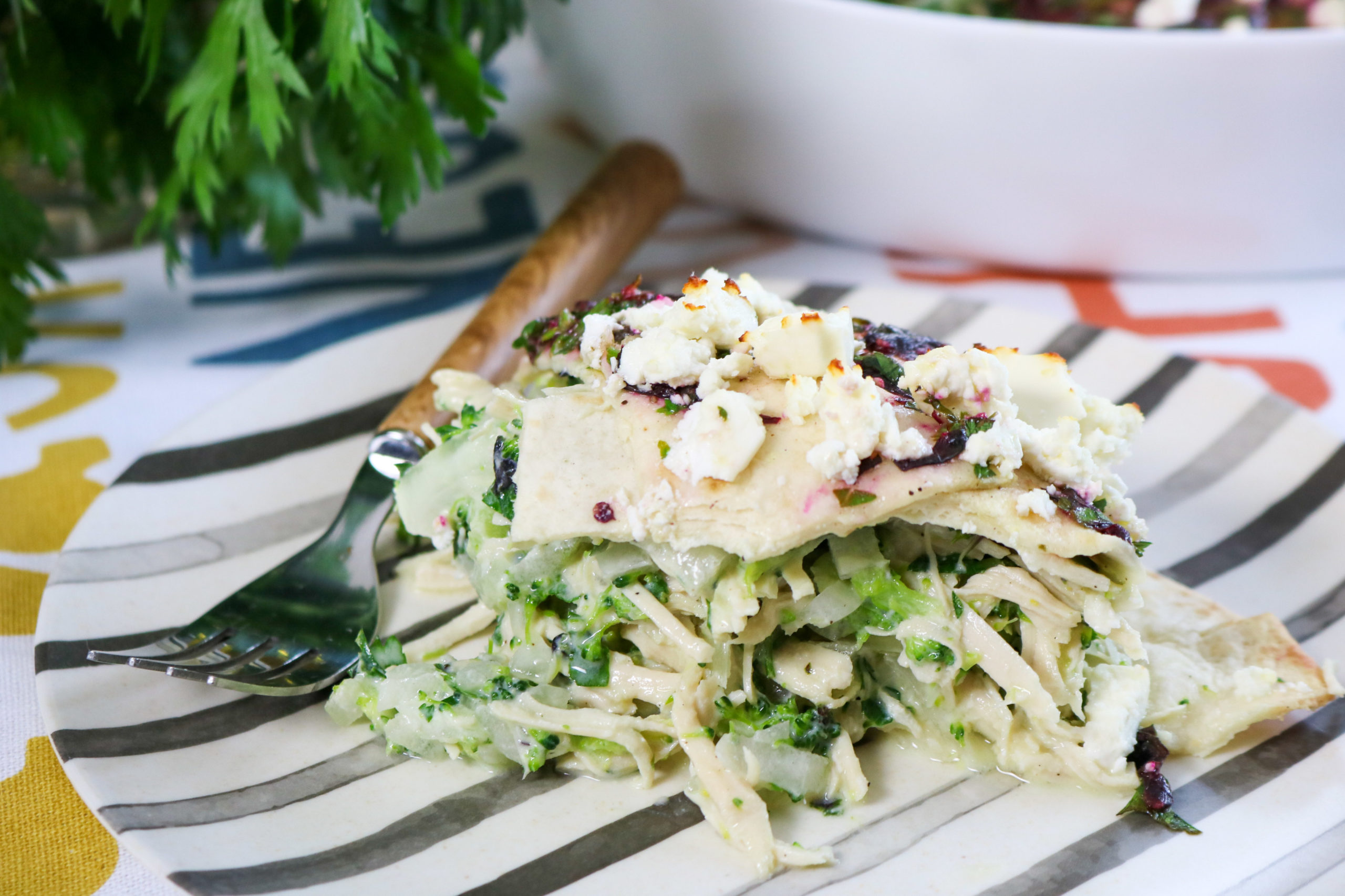 Turkey Enchilada Casserole With Salsa Verde