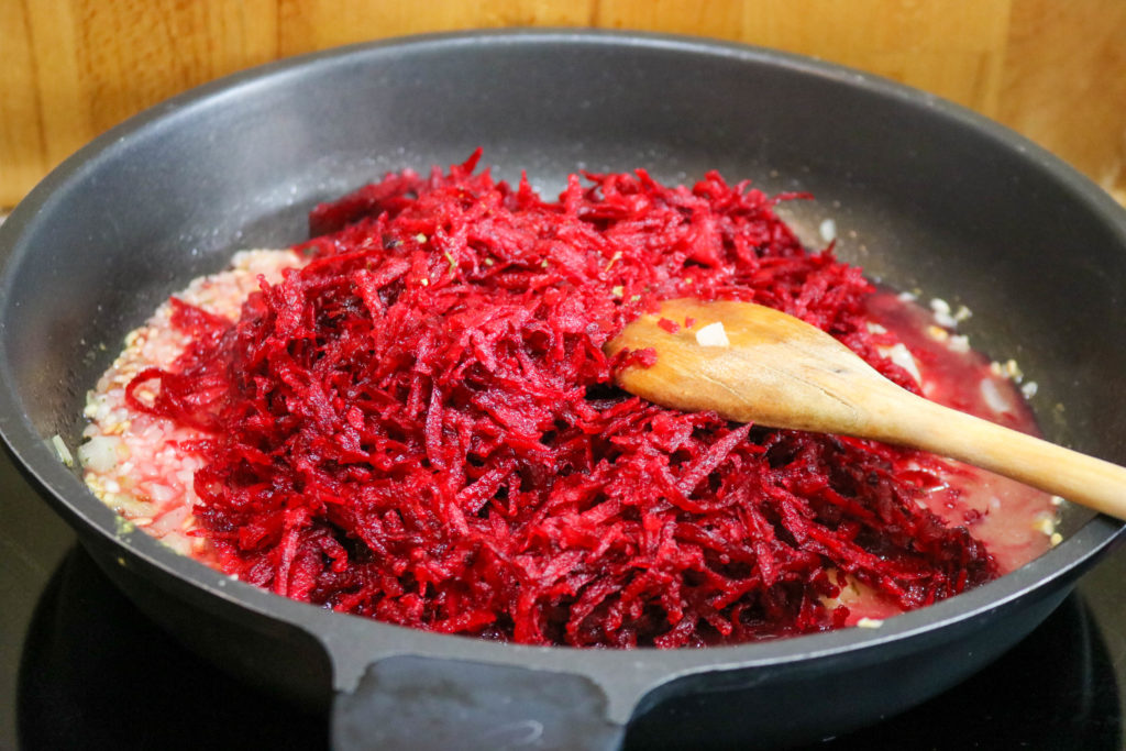 Add Beets to Pan