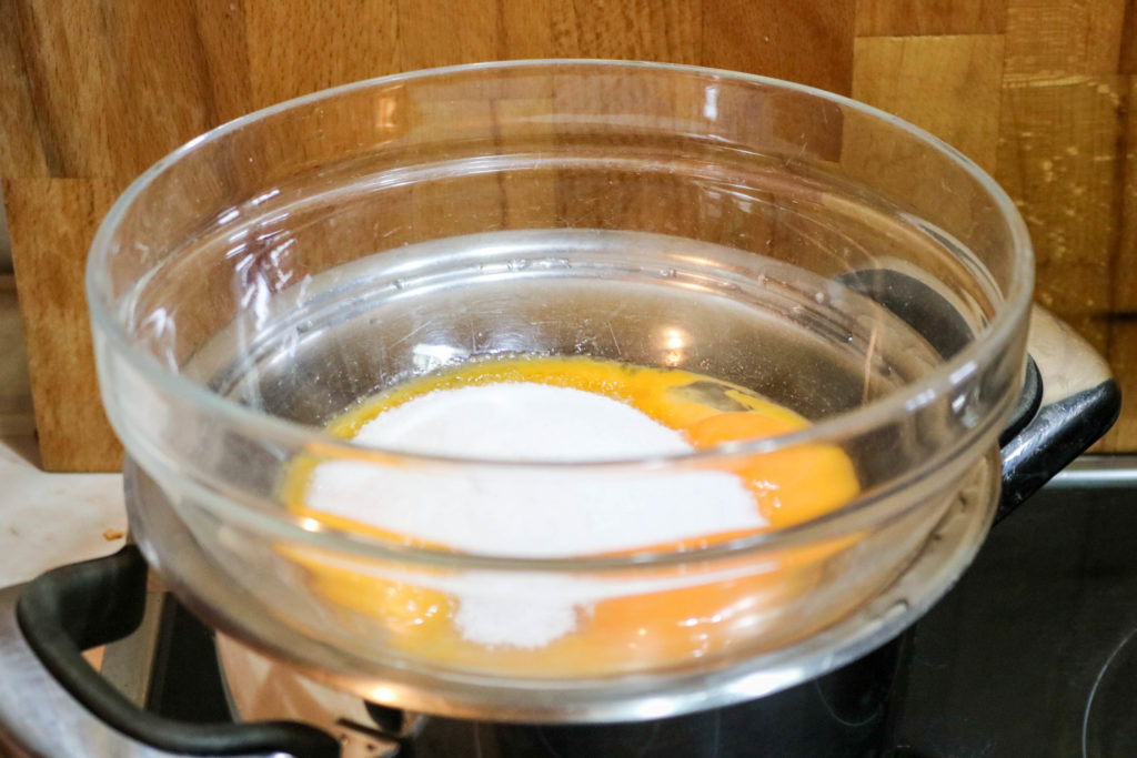 Whisk Eggs and Sugar