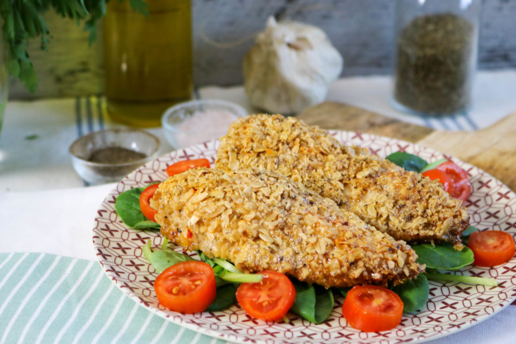 Gluten Free Oven Fried Crispy Chicken Breast