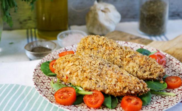 Gluten Free Oven Fried Crispy Chicken Breast
