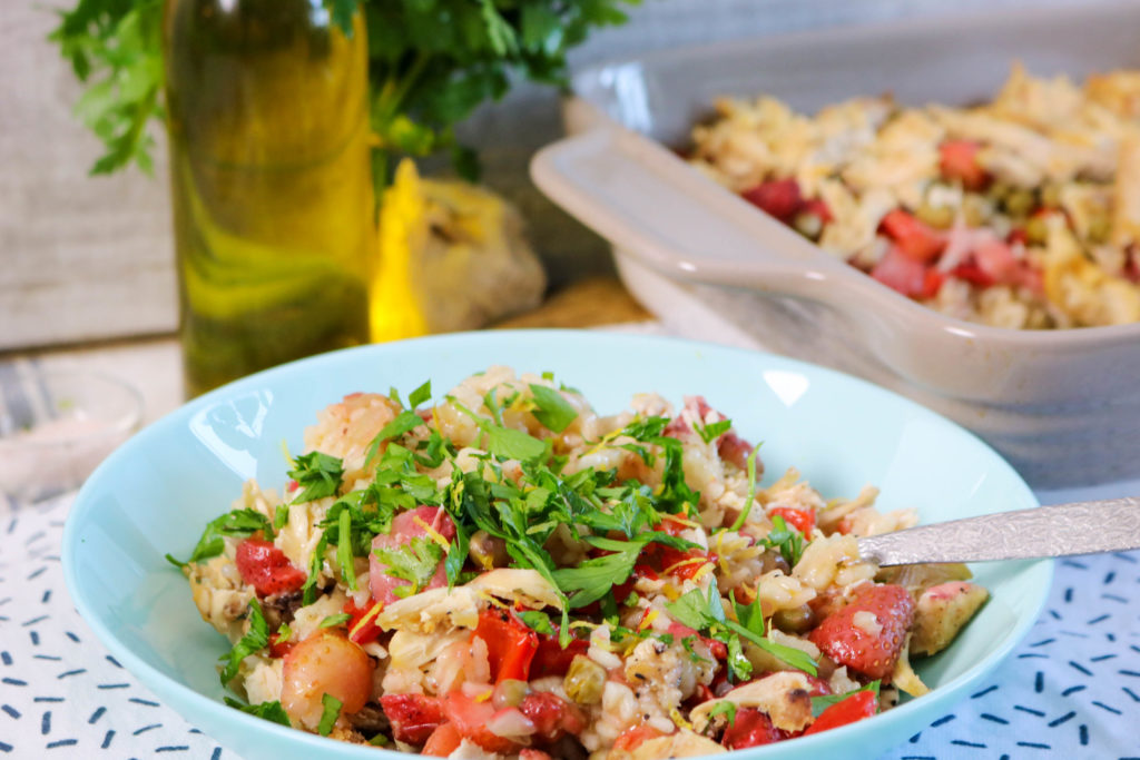 Sprinkle Paella and Serve