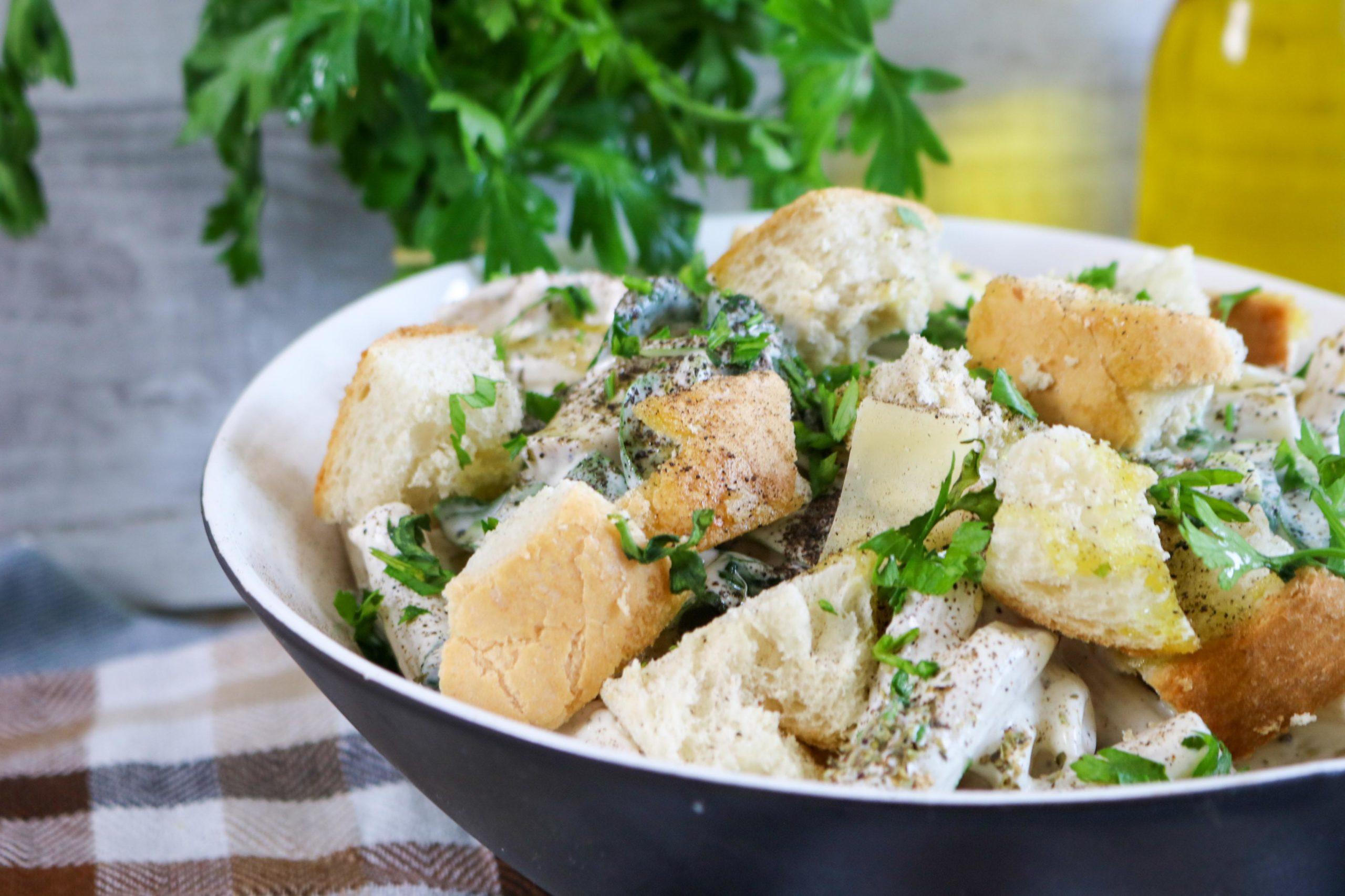 Caesar Pasta Salad with Chicken
