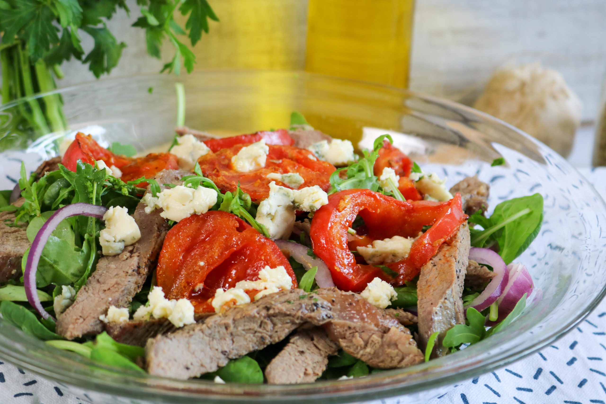 Warm Steak Salad with Seared Tomato