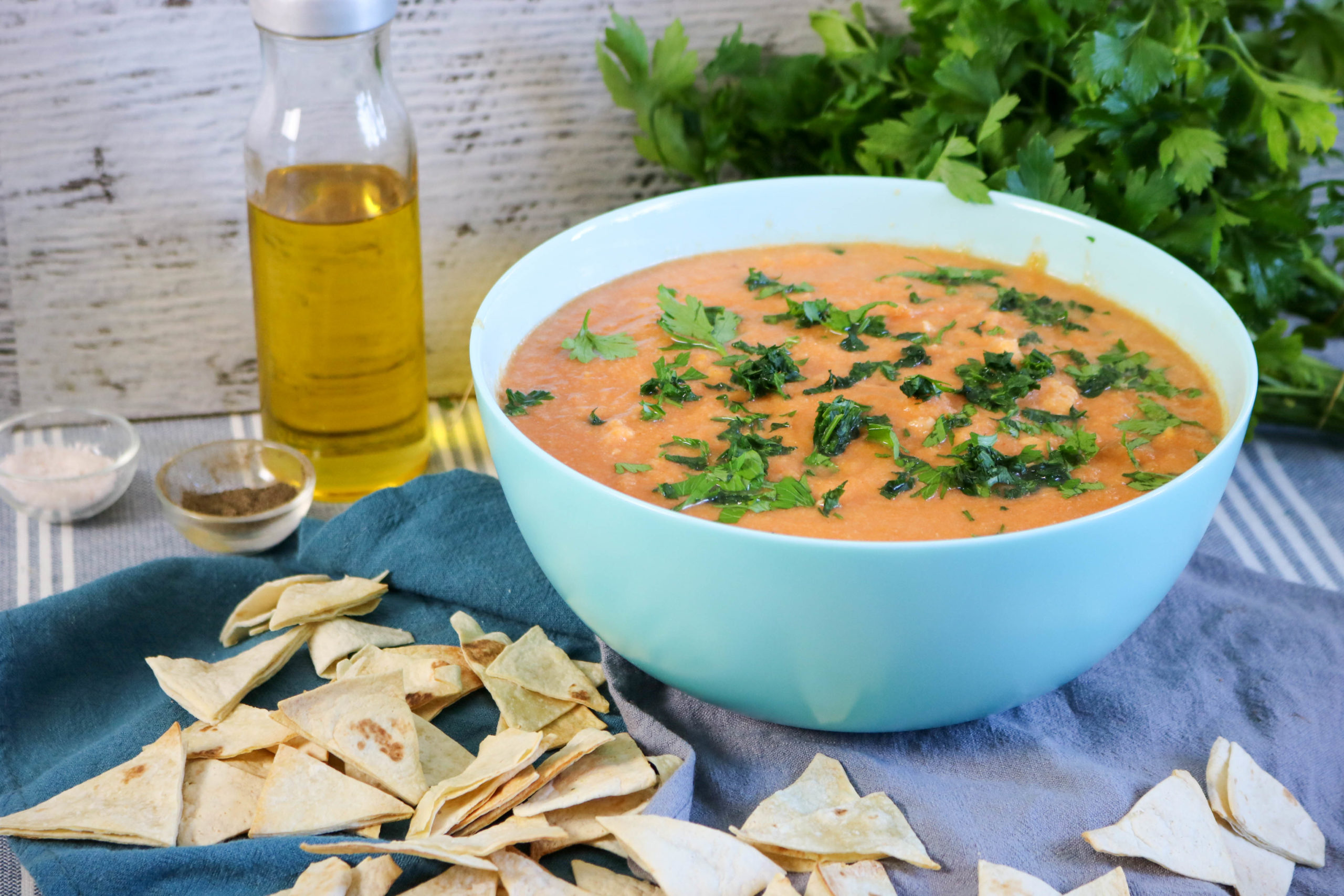 Cauliflower Chicken Tortilla Soup