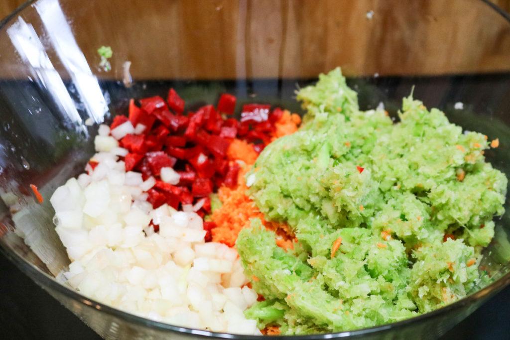Pour Mixture Over Vegetables
