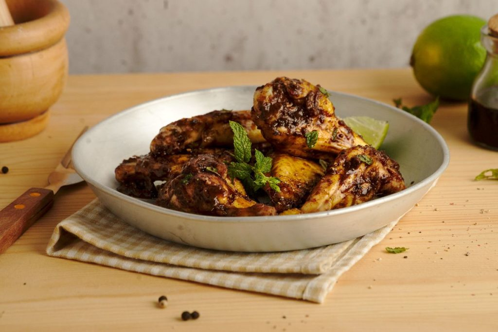 Caribbean Mole Baked Chicken Wings