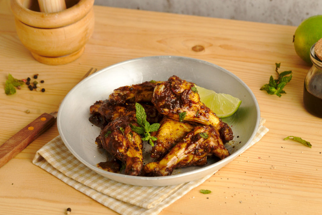 Caribbean Mole Baked Chicken Wings 4