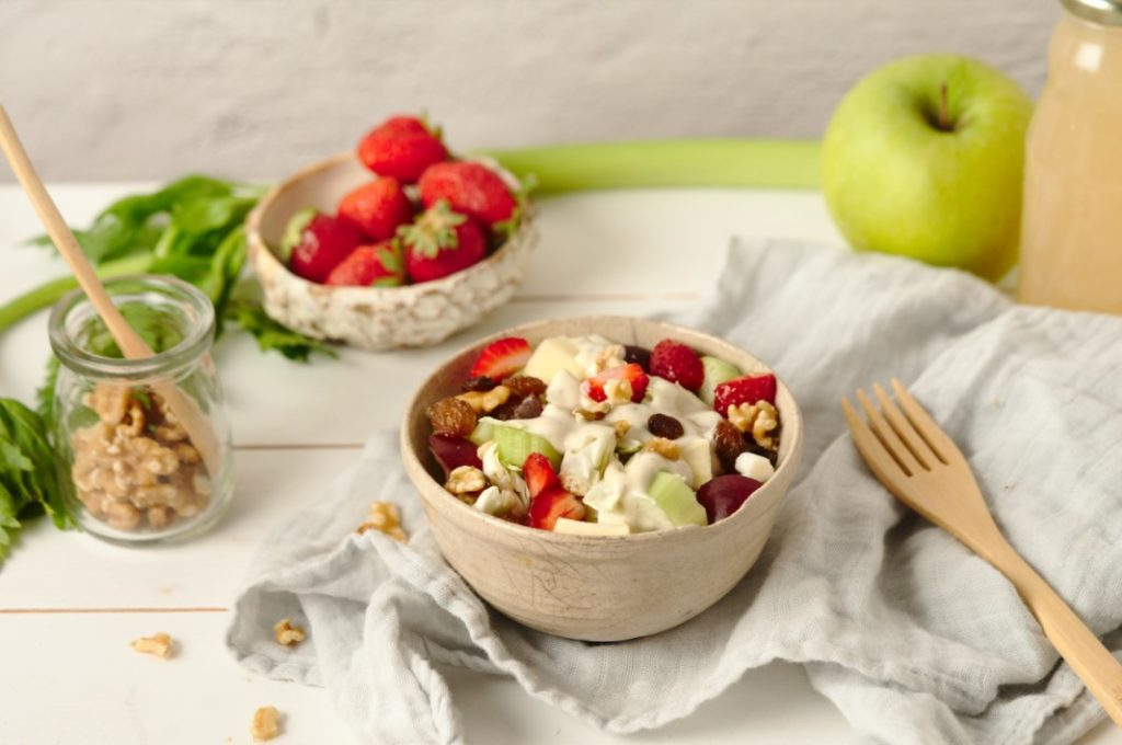 Healthy Strawberry Waldorf Salad