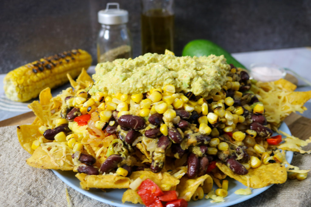 Vegetarian Fajita Nachos