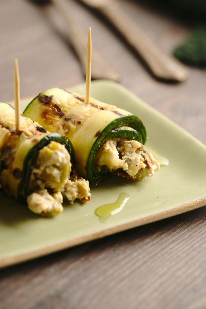 goat cheese grilled zucchini rolls 3