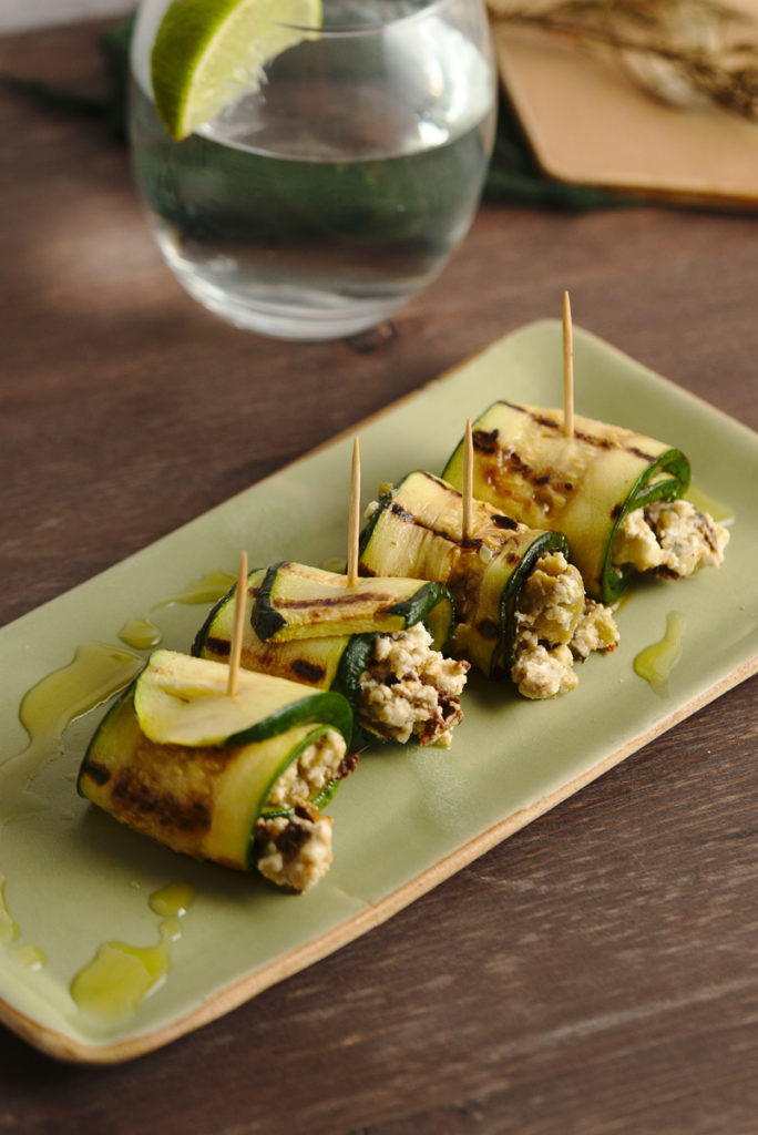 goat cheese grilled zucchini rolls 5
