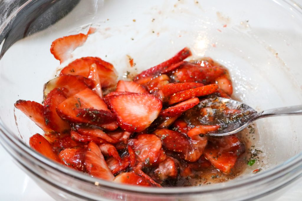 Mix together strawberries, agave and half of strawberry jam