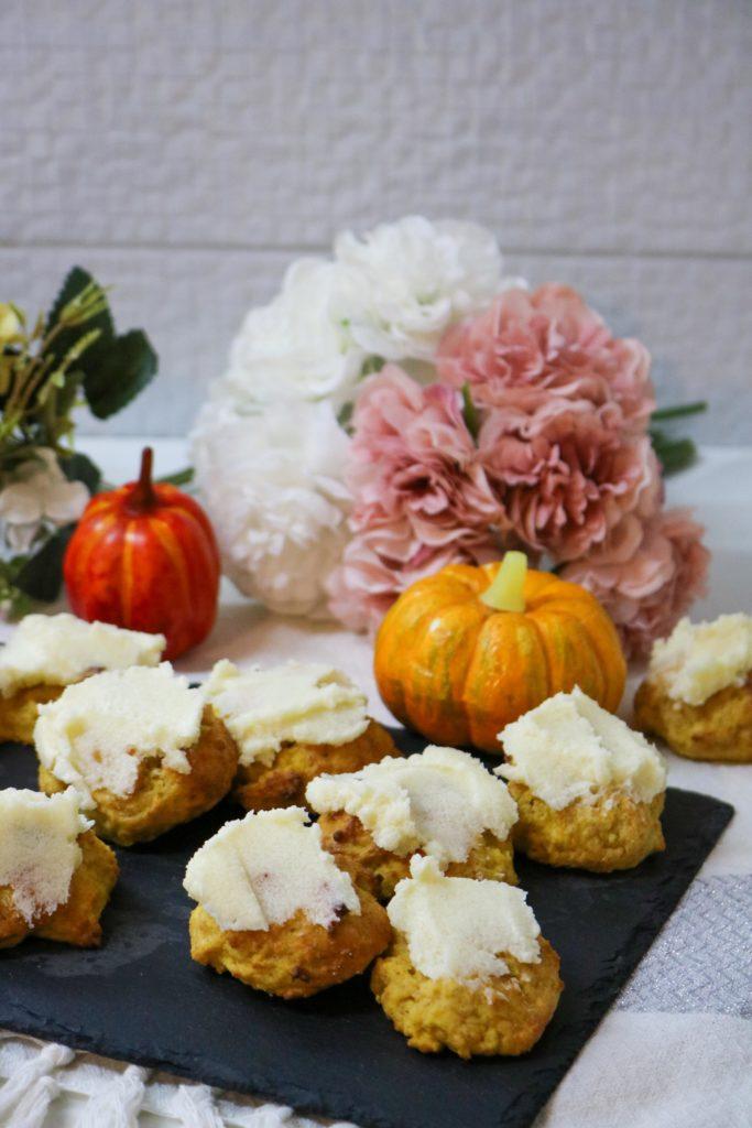 Lightened Pumpkin Cookies with Vanilla Butter Frosting 1