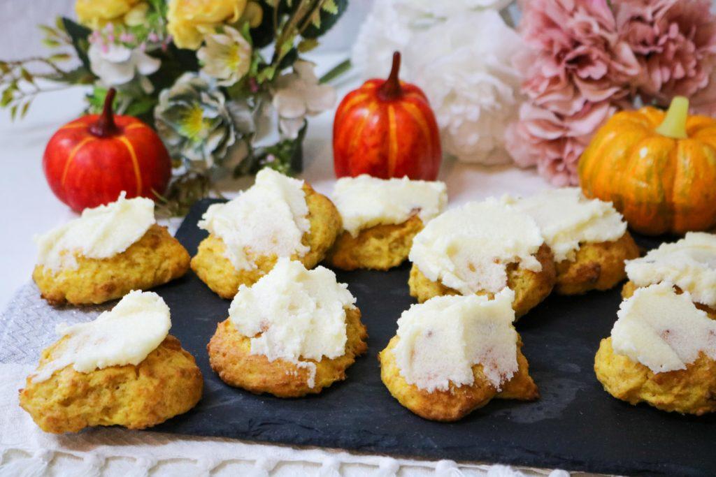 Lightened Pumpkin Cookies with Vanilla Butter Frosting 2