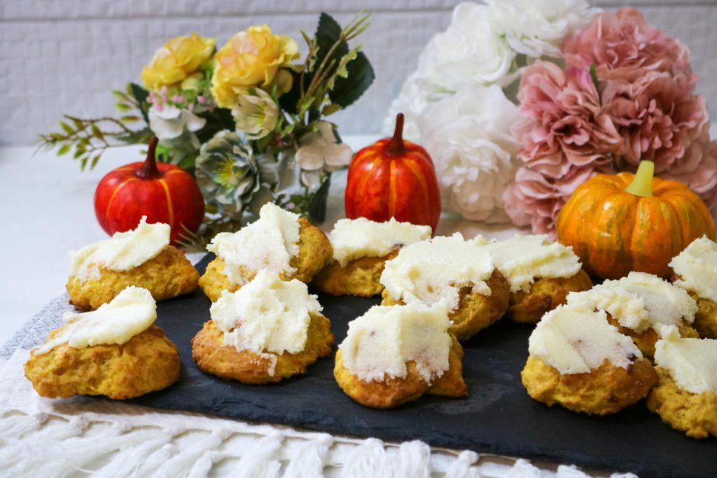 Lightened Pumpkin Cookies with Vanilla Butter Frosting Recipe