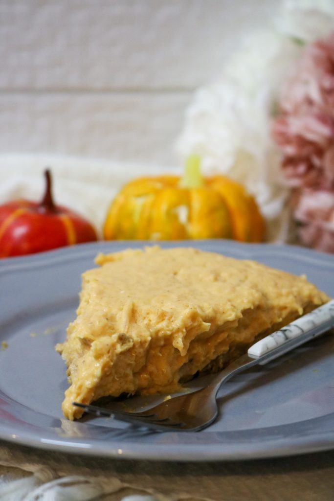 Lightened No Bake Pumpkin Cheesecake Pie with Gingersnap Crust 1