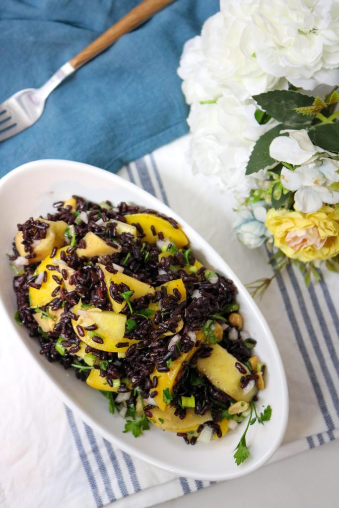 Black Rice Salad with Mango and Peaches 2