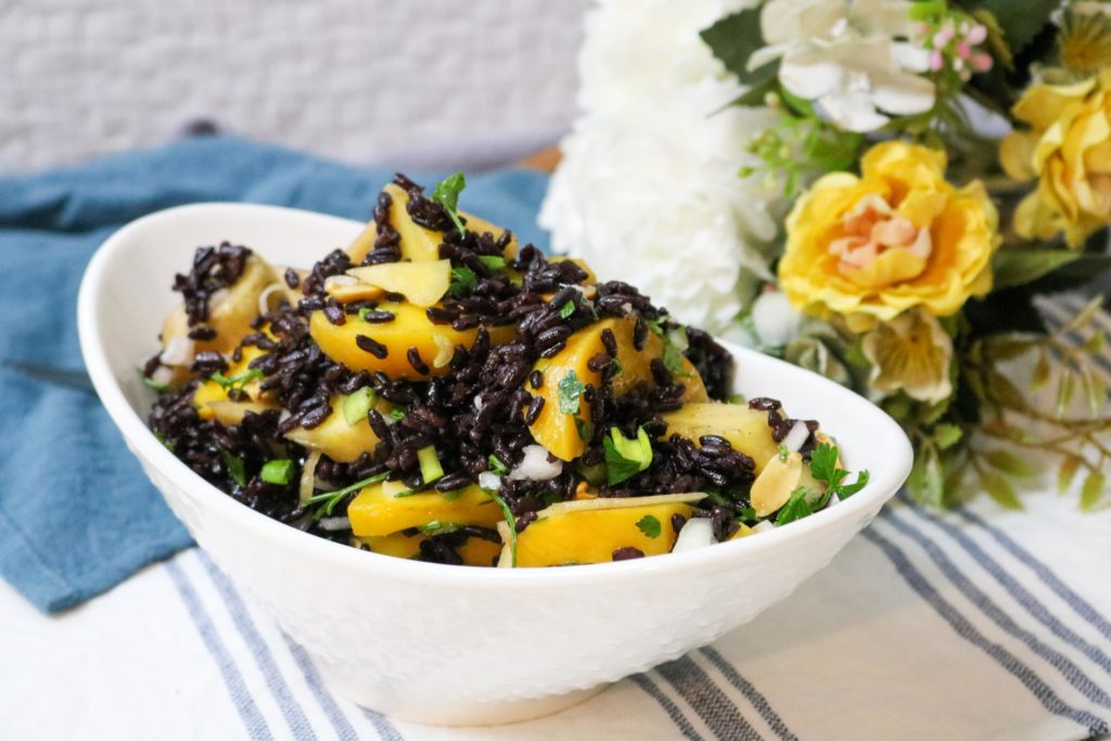 Black Rice Salad with Mango and Peaches 1