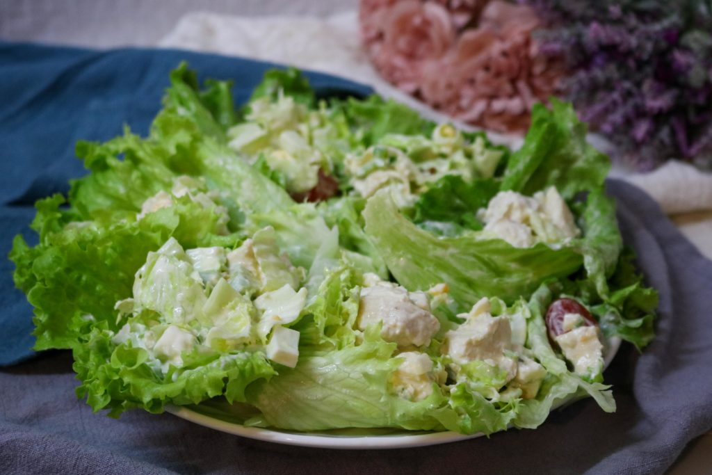 Turkey Cobb Salad Lettuce Wraps Recipe
