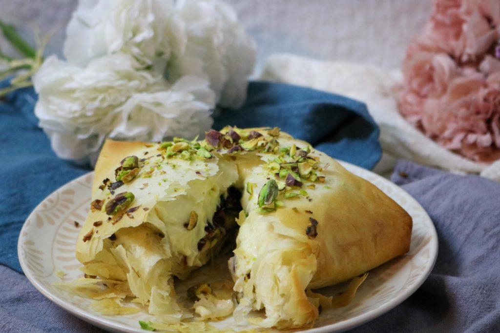 Cranberry Pistachio Stuffed Brie in Phyllo Recipe
