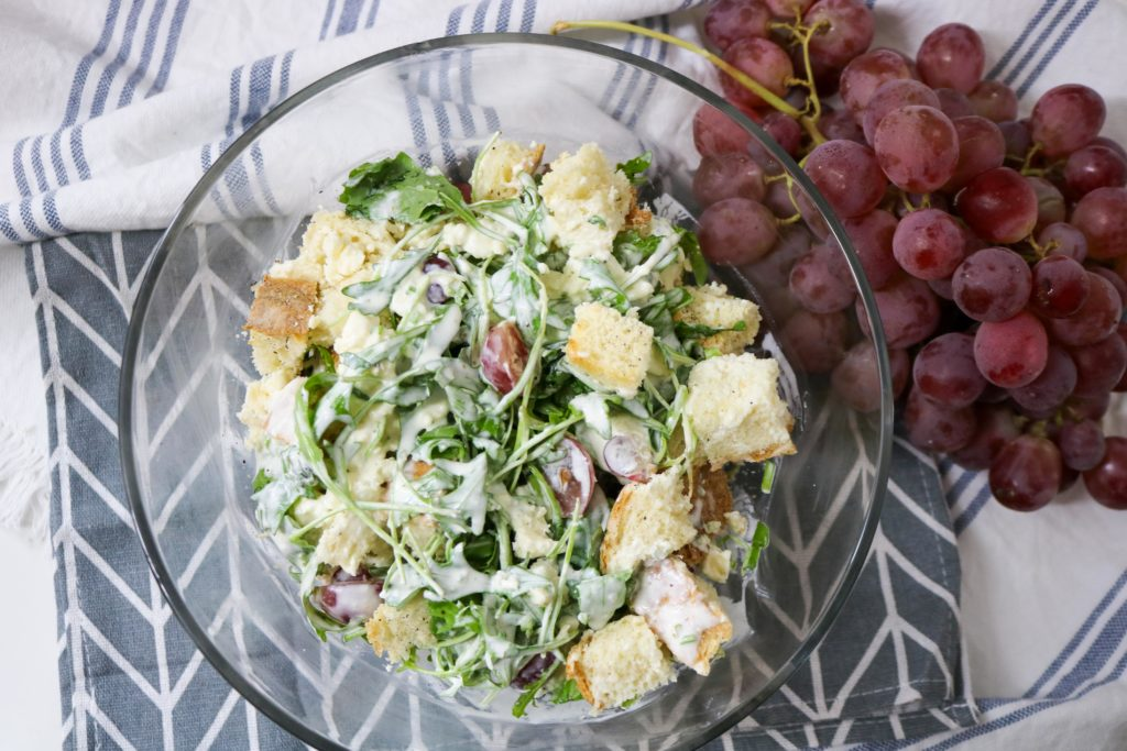 Bread Salad with Grapes and Blue Cheese Recipe