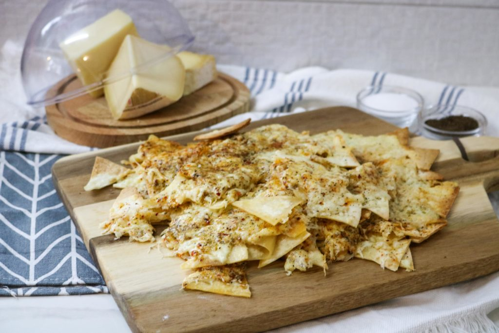 Healthy Nacho Cheese Baked Tortilla Chips Recipe
