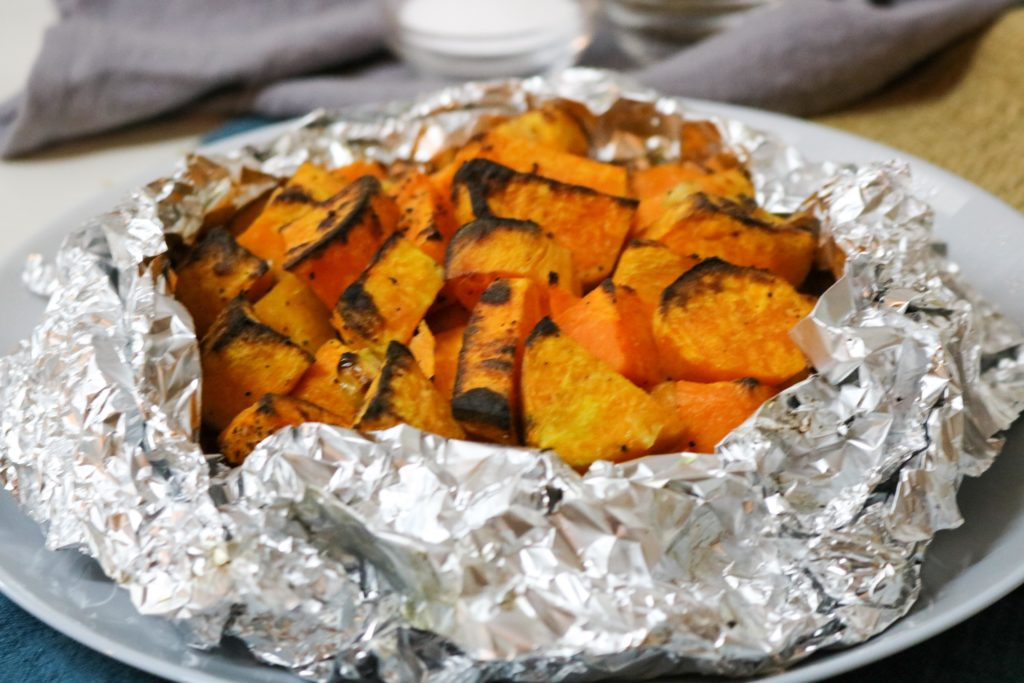 Grilled Sweet Potatoes with Garlic Butter Recipe