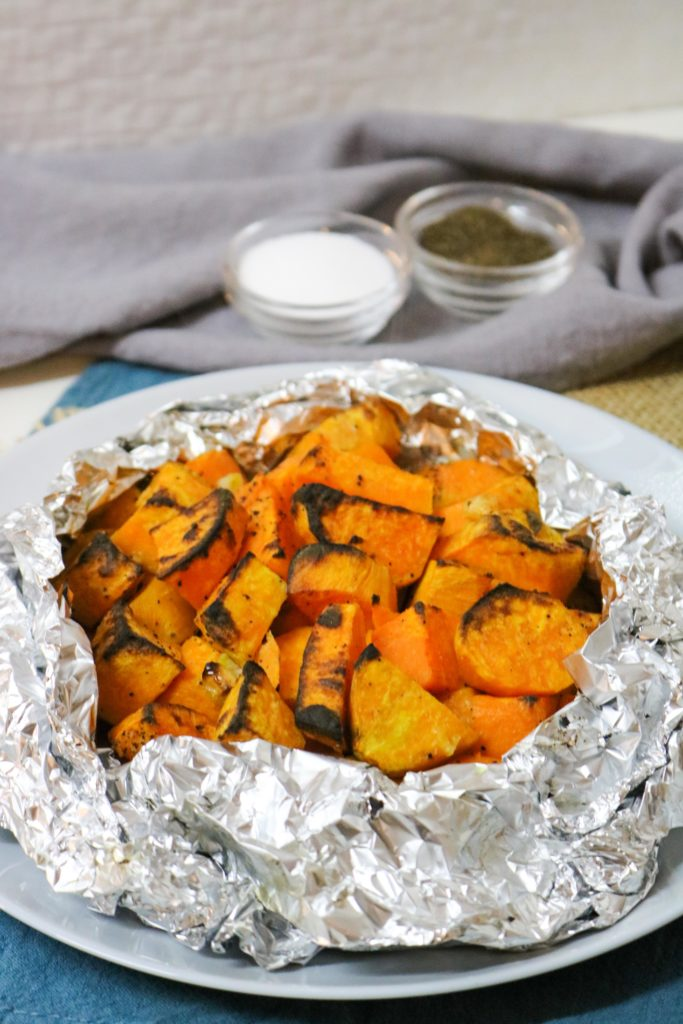 Grilled Sweet Potatoes with Garlic Butter 1