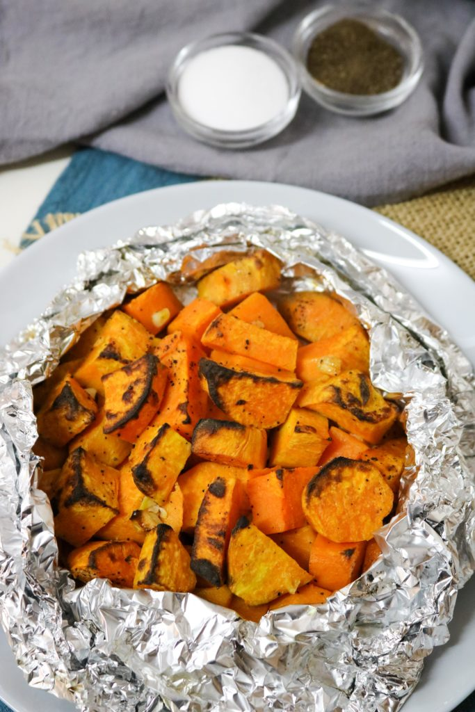 Grilled Sweet Potatoes with Garlic Butter 2