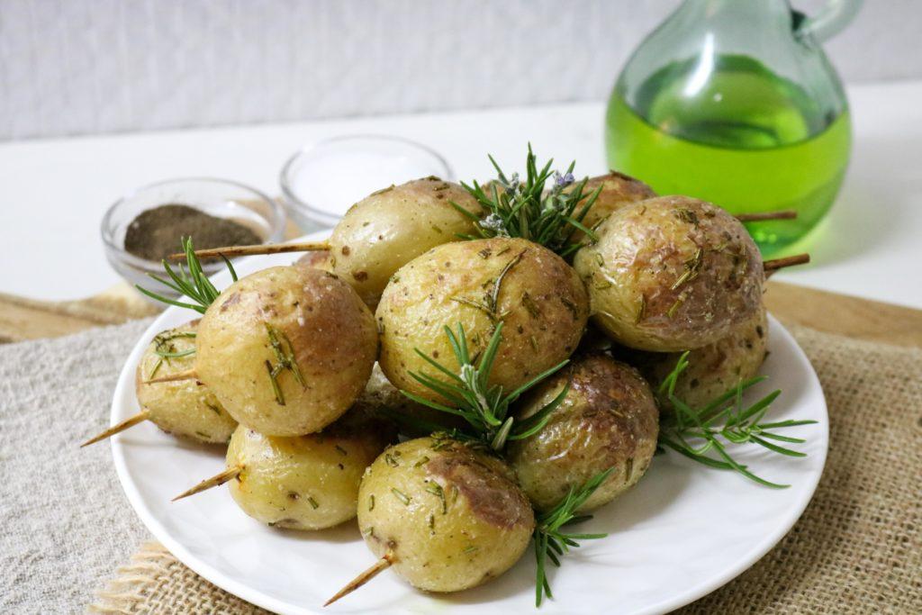Grilled Potato Rosemary Kebabs Recipe