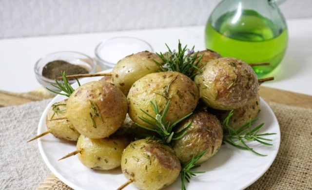 Grilled Potato Rosemary Kebabs Recipe