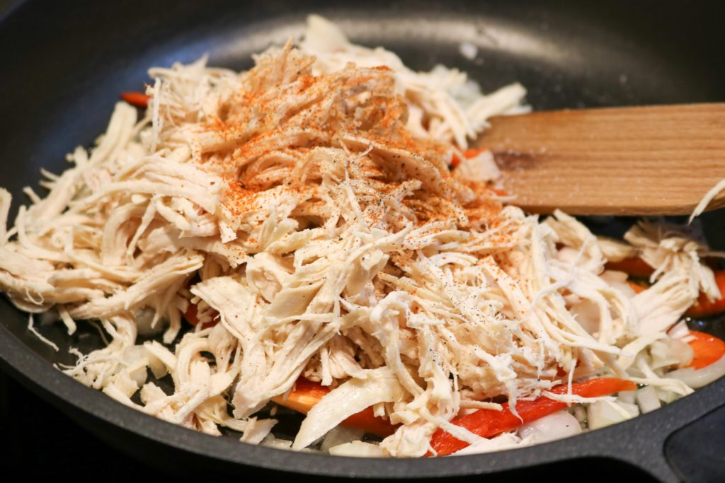 Add turkey, taco seasoning and salt