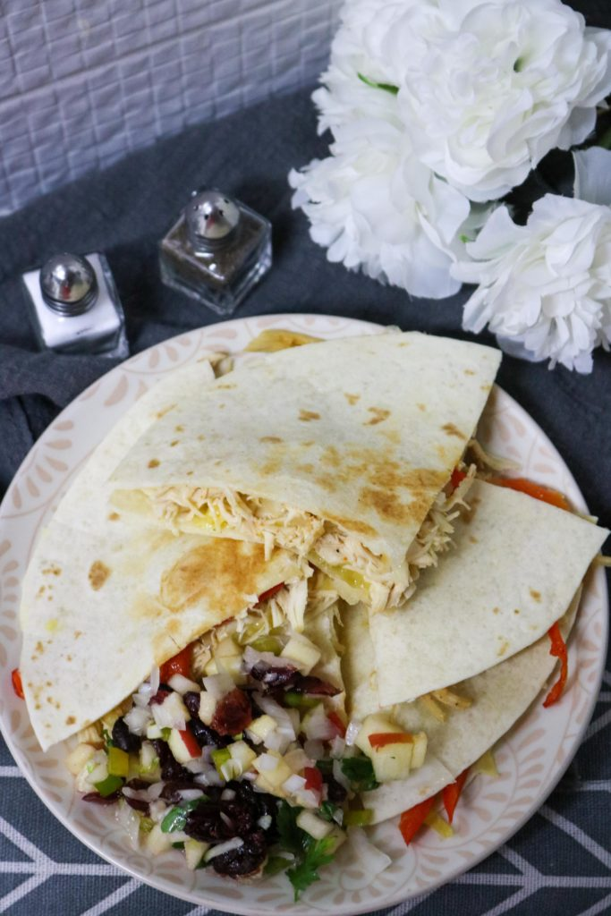 Healthy Turkey Quesadillas with Cranberry Apple Salsa 2